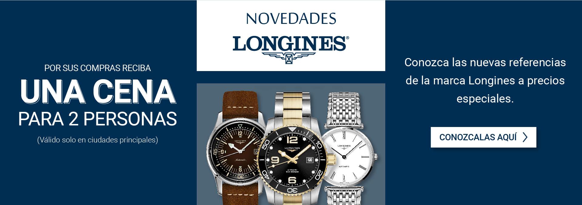 Conozca las nuevas referencias de la marca Longines a precios especiales.
